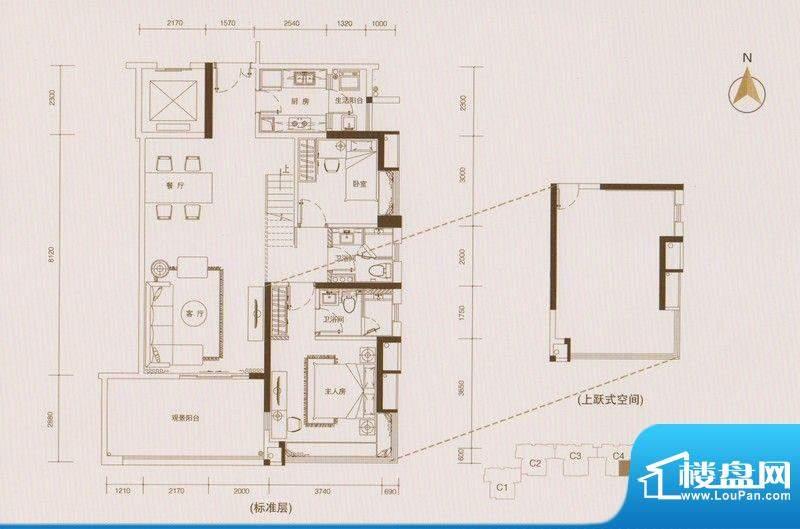 星品C4栋03单元双数面积:110.00平米