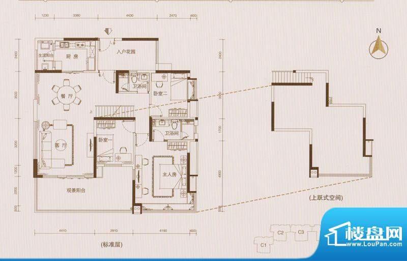 星品C5C6栋02单位双面积:146.00平米