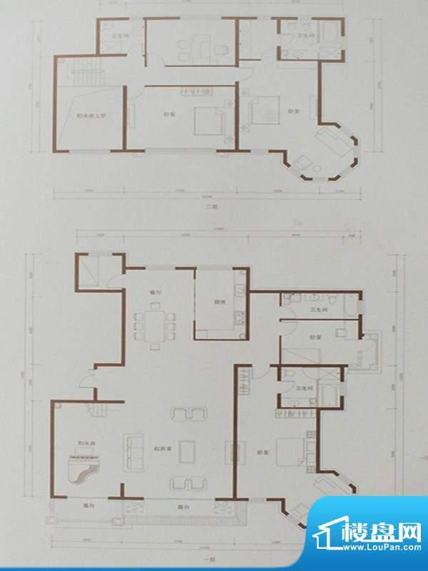 豪景公馆D1-Y户型图面积:370.76m平米