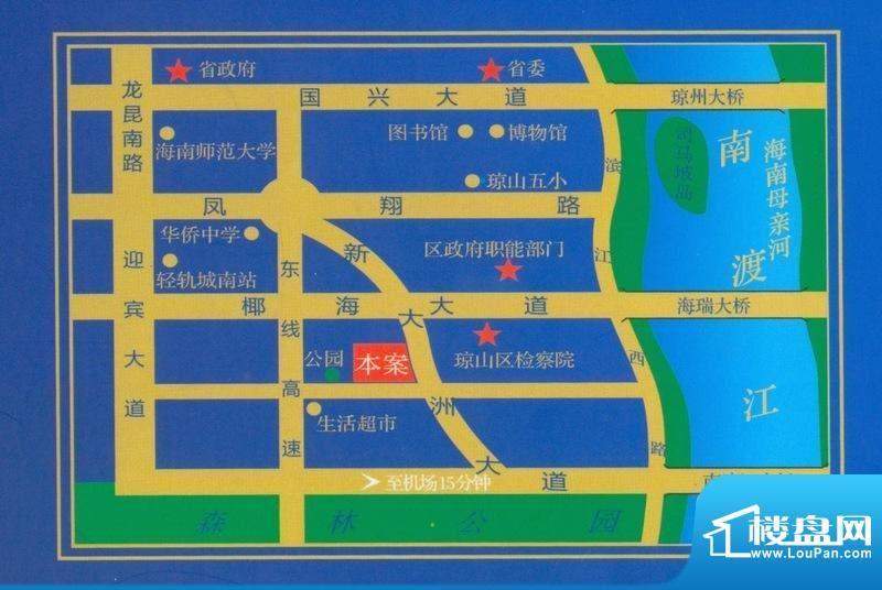 儒俊雅苑交通图
