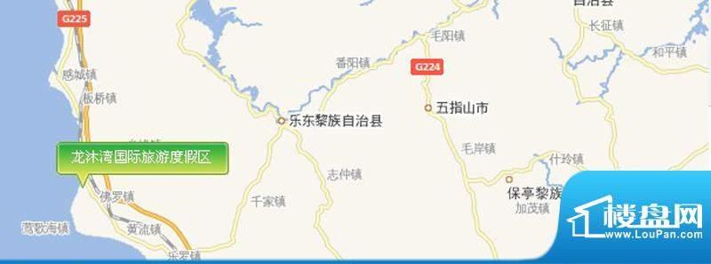 龙沐湾国际旅游度假区交通图