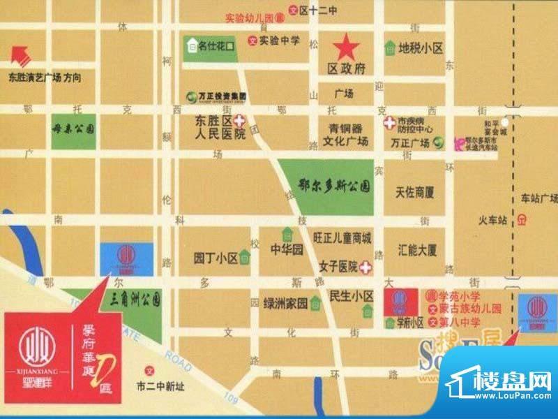 学府华庭D区交通图
