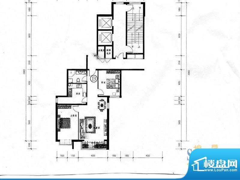 学府华庭D区户型图1面积:112.89m平米