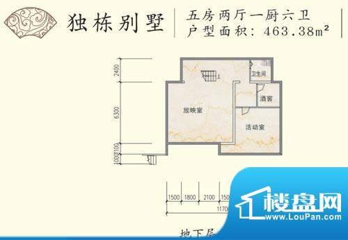 和贵花园独栋别墅地面积:463.38平米