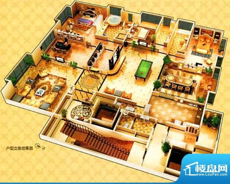 西山名苑A户型 4室3面积:450.00m平米
