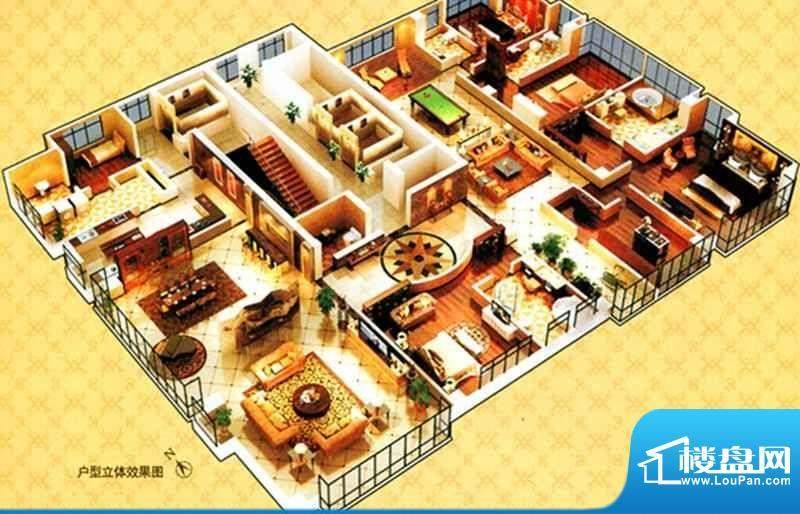 西山名苑C户型 5室4面积:650.00m平米