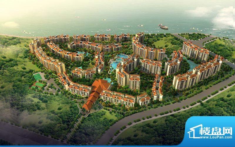 海口新世界花园度假村三期鸟瞰图