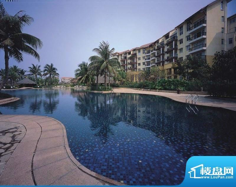 海口新世界花园度假村泳池景观实景图(