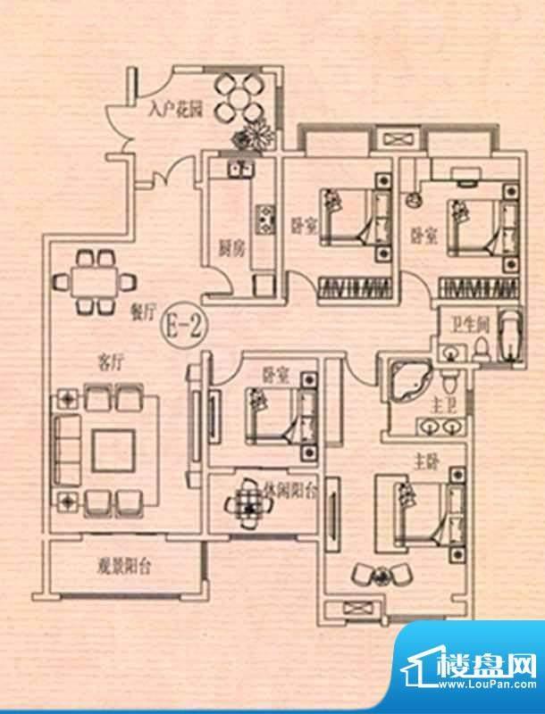 万佳裕园户型图4 4室面积:176.53m平米