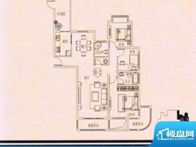 万佳裕园户型图1 3室面积:138.66m平米