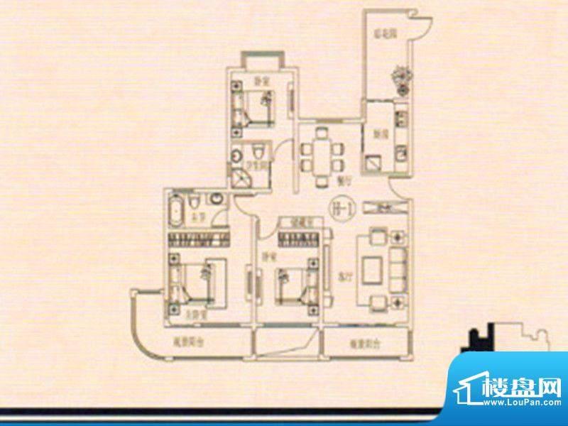万佳裕园户型图2 3室面积:139.31m平米