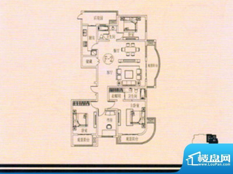 万佳裕园户型图4 4室面积:176.50m平米