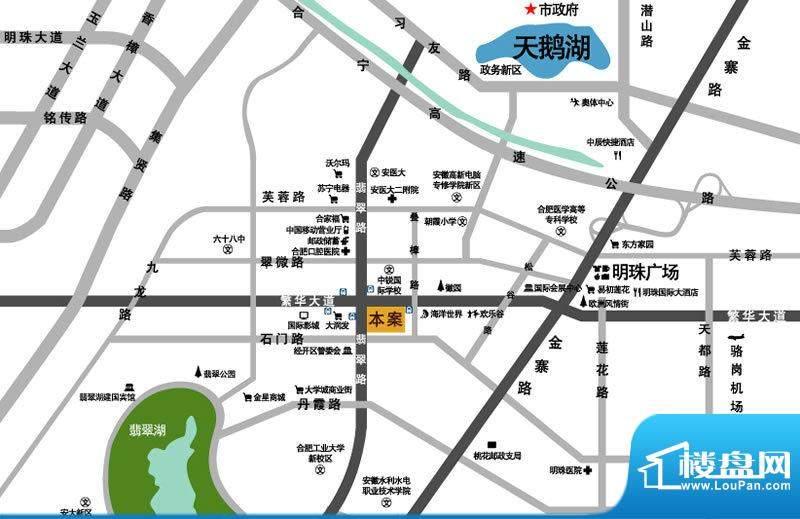 经典华城一期梧桐语交通图