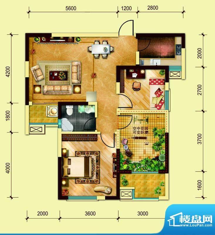 经典华城一期梧桐语面积:87.00平米