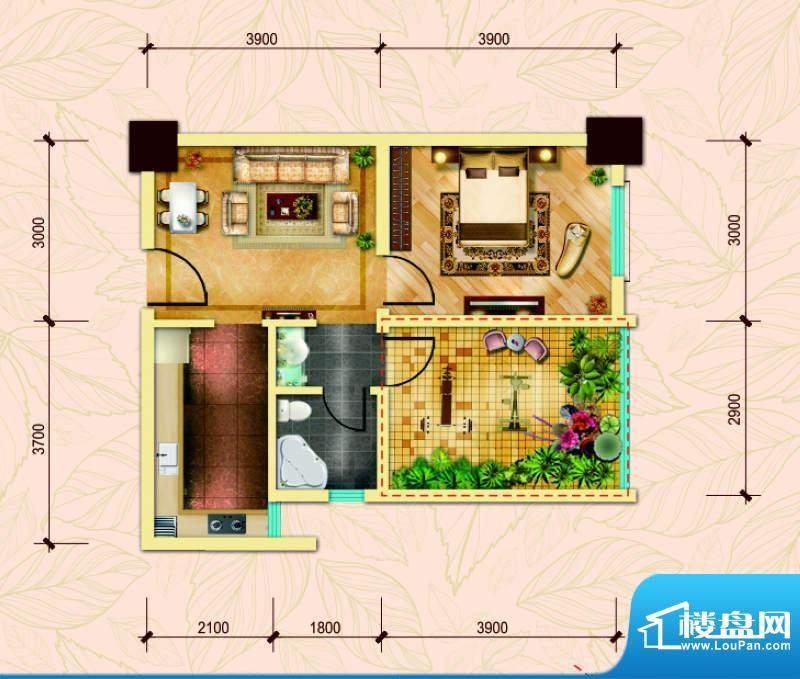 经典华城一期梧桐语面积:69.00平米