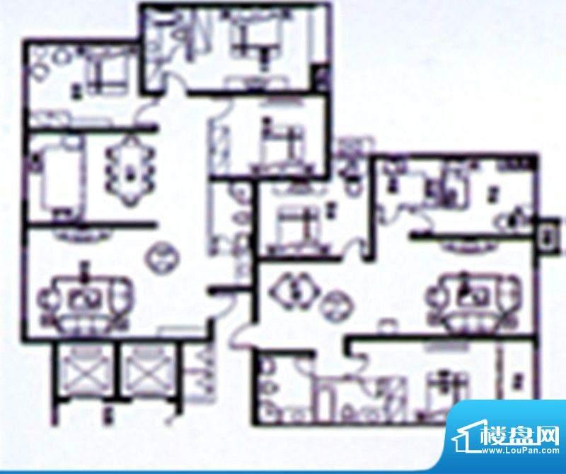 时达·天和俪苑户型面积:176.00m平米
