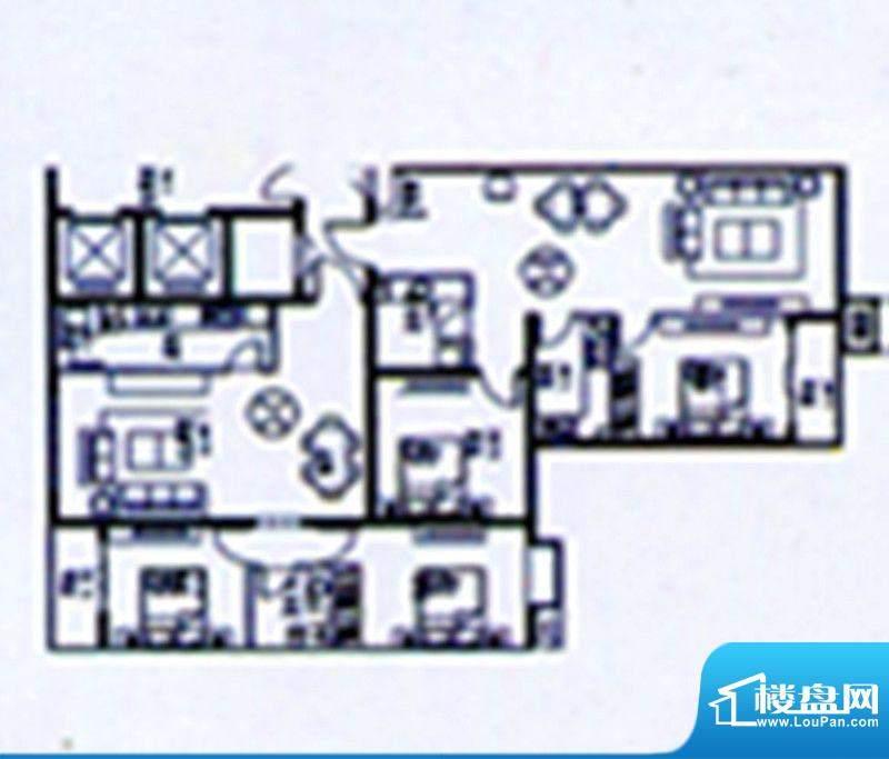 时达·天和俪苑户型面积:90.00m平米