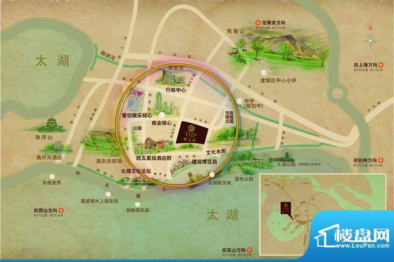太湖相王府交通图