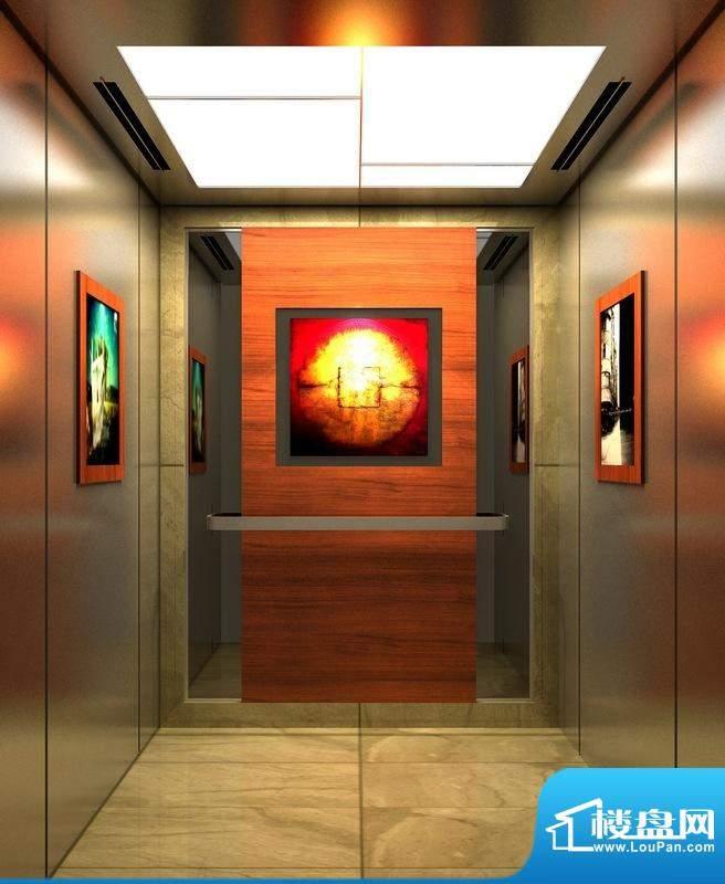 皇冠世纪豪门皇冠花园电梯轿厢效果图