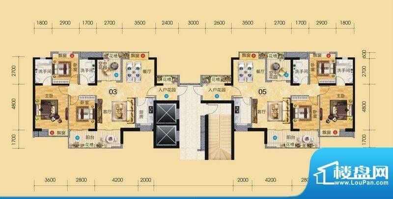 正大豪庭3#楼户型图面积:120.50平米