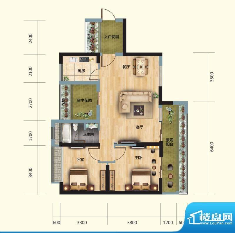 正大豪庭4#03户型图面积:92.00平米
