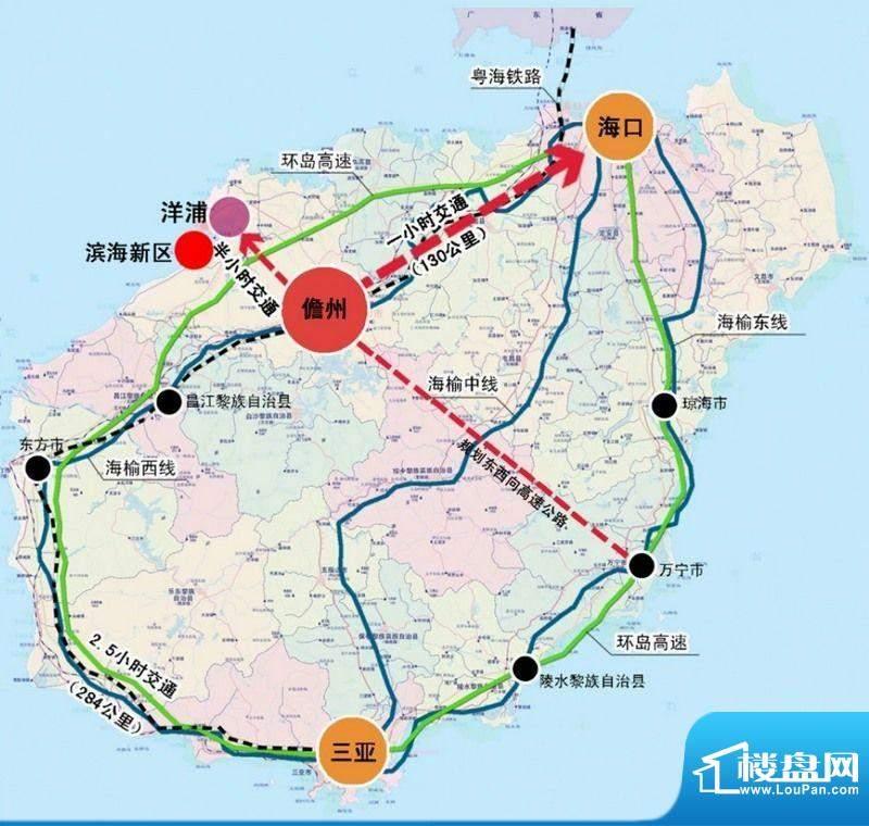 蓝岛滨海康城交通图