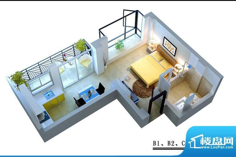 蓝岛滨海康城B1B2C2面积:36.46平米