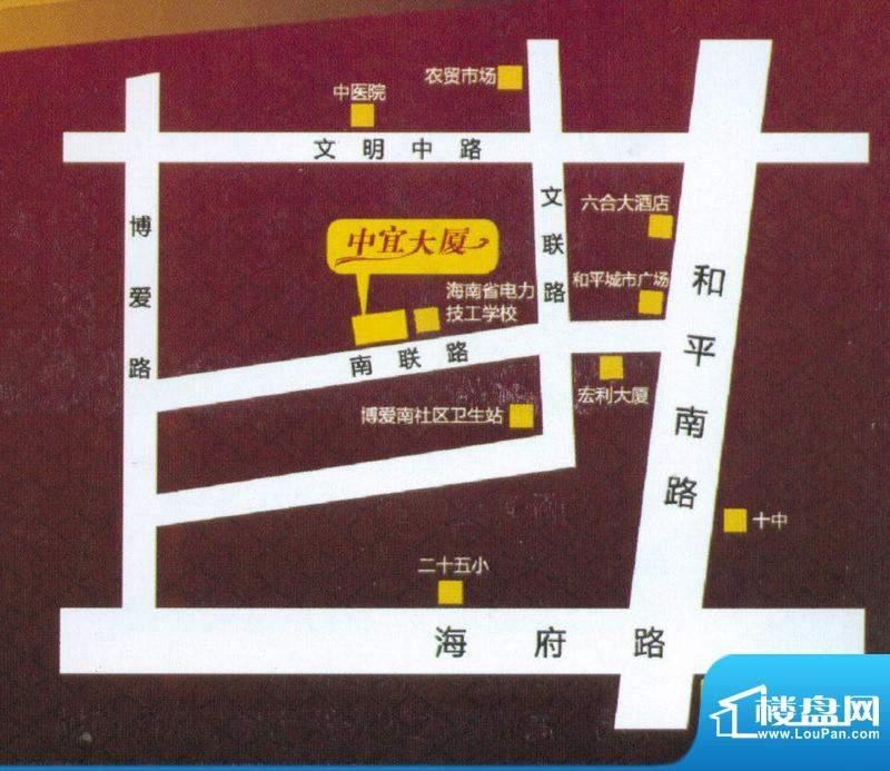中宜大厦交通图