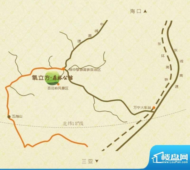 氧立方森林公馆交通图