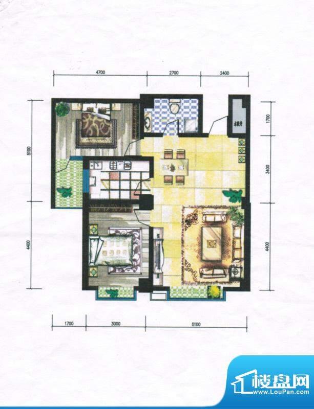 锦绣嘉苑户型图 2室面积:113.80m平米