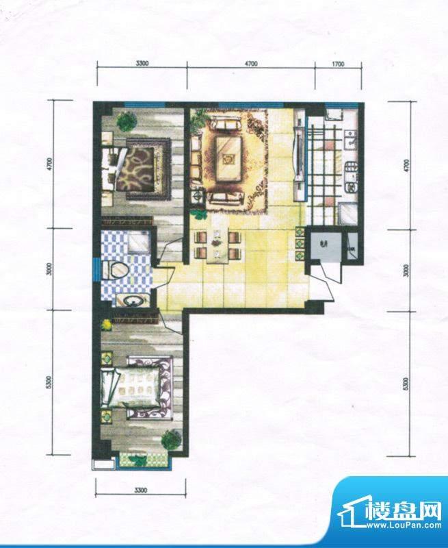 锦绣嘉苑户型图 2室面积:118.60m平米