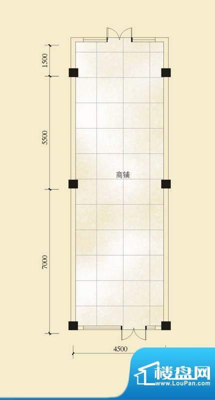 昌顺豪庭A户型 1室1面积:64.77平米