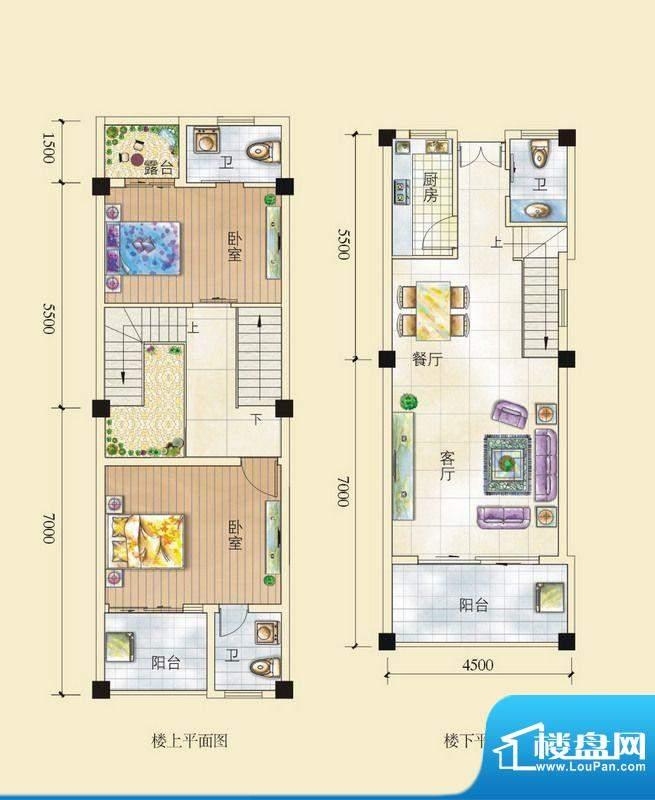 昌顺豪庭C户型复式 面积:124.45平米