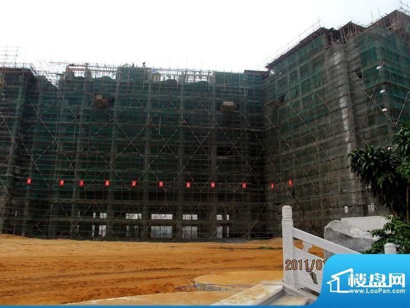 中信博鳌山钦湾公寓工程进度(20110113