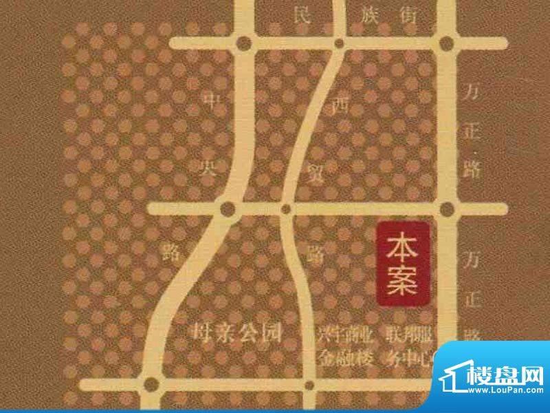 万融时代广场交通图