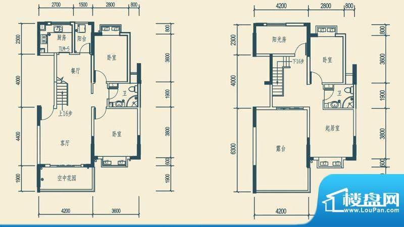椰林嘉园B2户型(跃面积:160.44平米