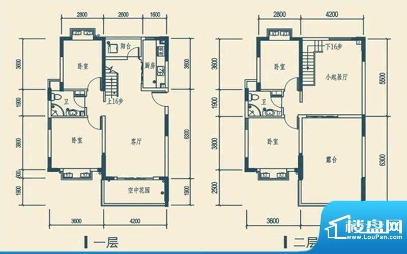 椰林嘉园B1户型(跃面积:165.12平米