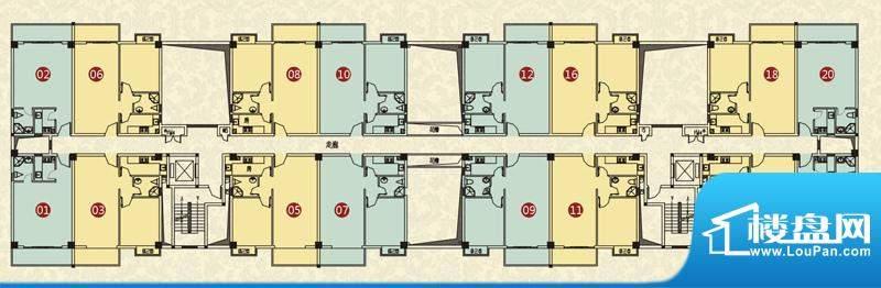 大忠雅苑A楼层平面图面积:0.00平米