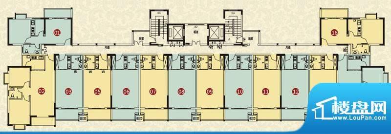 大忠雅苑B楼层平面图面积:0.00平米