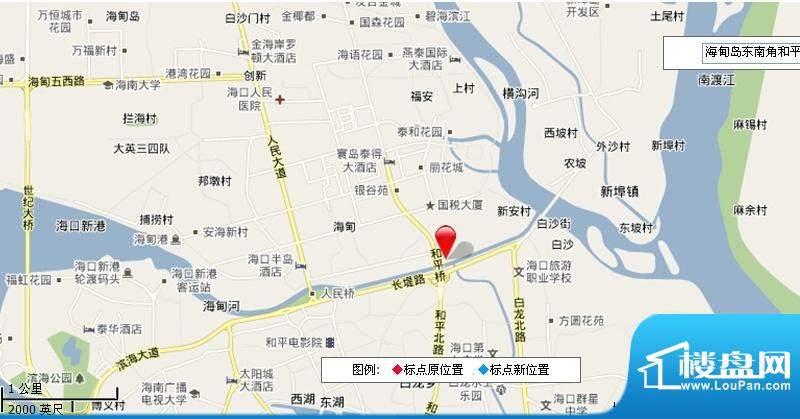 海口广物滨江海岸交通图