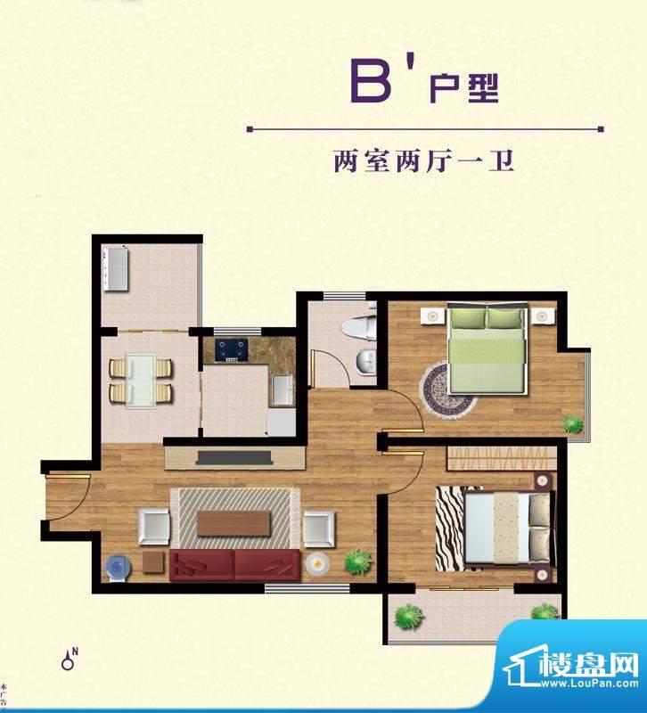 晟祥·悦城B'户型 面积:0.00m平米
