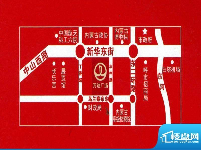 万达广场交通图