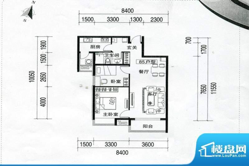 万达广场万达三期3-面积:85.00m平米