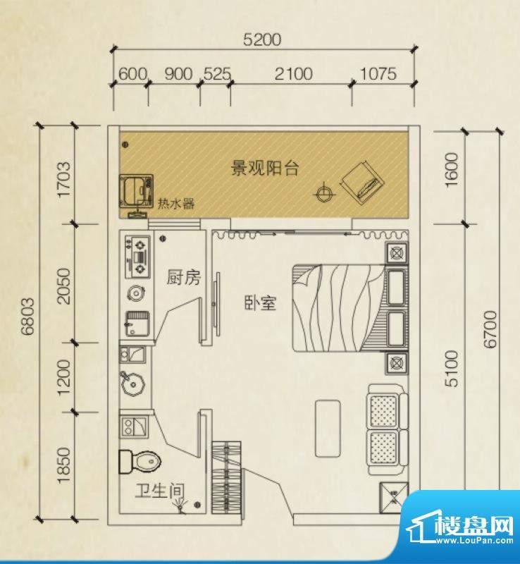 同创碧海城南苑美兰面积:39.11平米