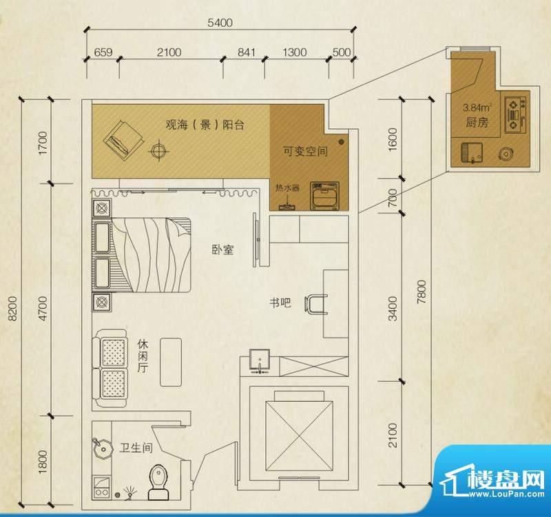 同创碧海城南苑美兰面积:38.95平米