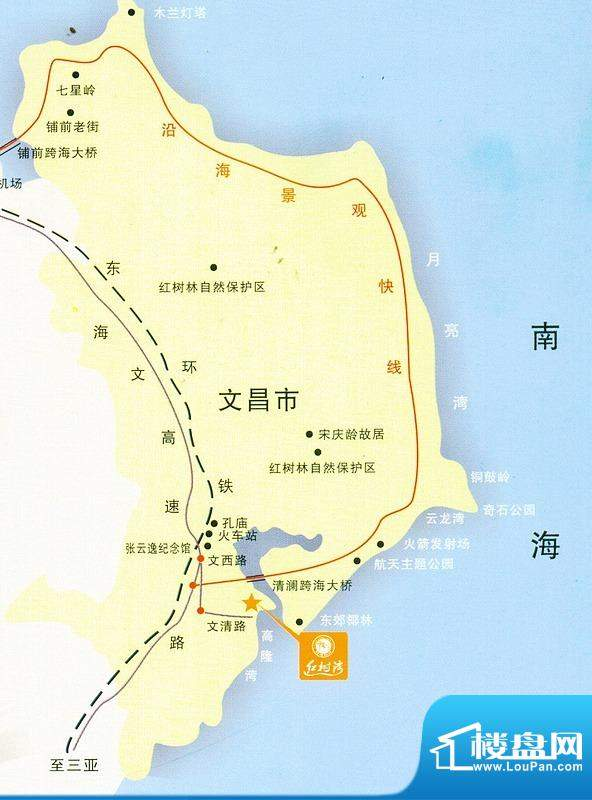 红树湾国际度假公馆交通图
