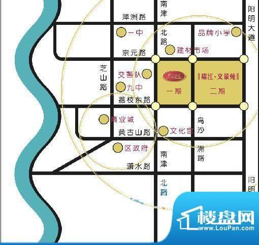 耀江豪廷交通图