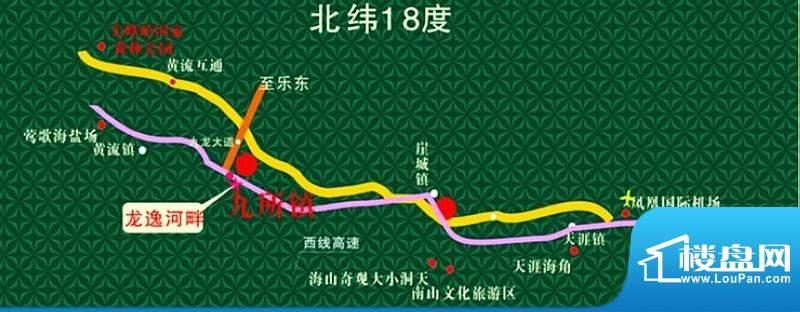 龙逸河畔交通图
