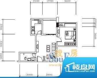 远达美美国际B2 1室面积:59.00平米