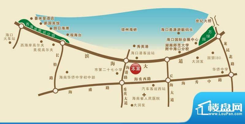 福隆广场三期海福湾交通图